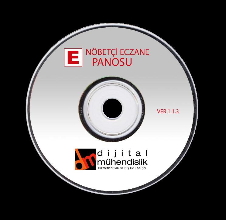 Nöbetçi Eczane Panosu Yazılım CD si